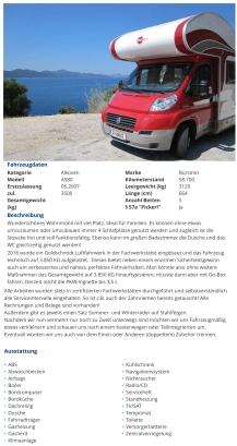 Bürstner A580, 2007, € 35.900,- - willhaben