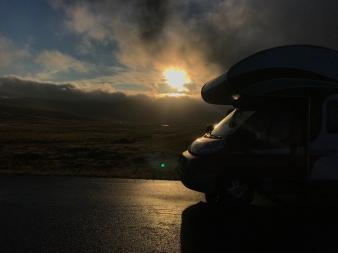 Beim Zurückfahren vom Nordkap zum Campingplatz hatten wir dann eine beindruckende Stimmung …