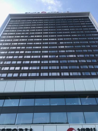 Im 23. Stock ist das KGB-Museum. Angeblich. Ohne Anmeldung ggeht da aber nichts.